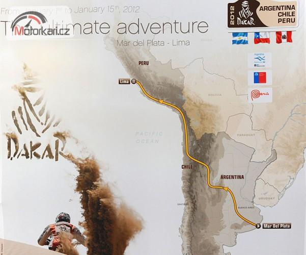 Organizátoøi Dakaru zveøejnili trasu roèníku 2012
