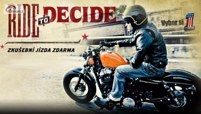 Harley-Davidson zve na testovací jízdy