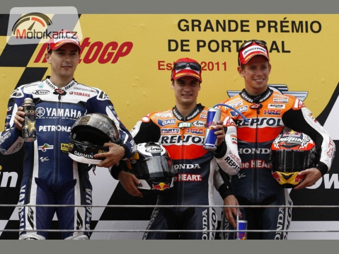 Jezdci MotoGP po Estorilu