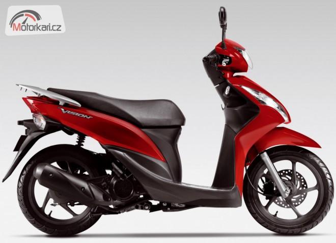 Nový skútr Honda Vision již brzy v prodeji