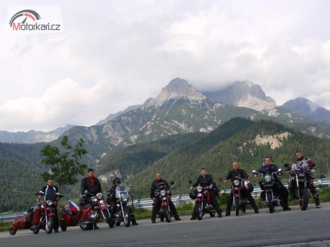 Jawy a DOMO-MOTO v Alpách