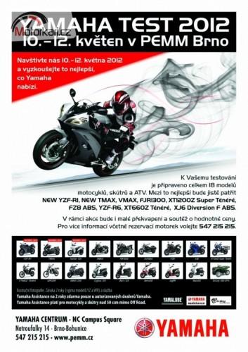 Yamaha test 2012 v PEMM Brno