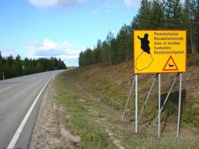 Cel� severn� polovina Finska je �zem�m s voln�m chovem sob�