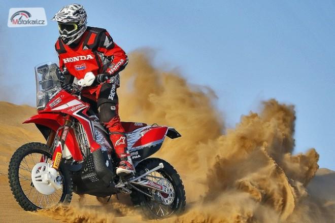 Honda testuje na Dakar v poušti Mojave