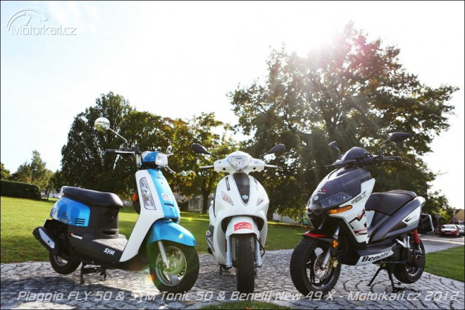 Piaggio Fly 50 & Sym Tonic 50 & Benelli New X 49