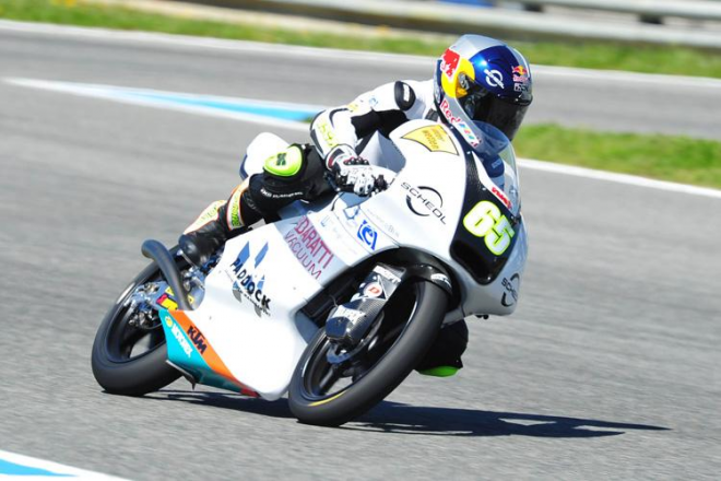 Test Moto3 v Jerezu: Kornfeil za mokra druhý