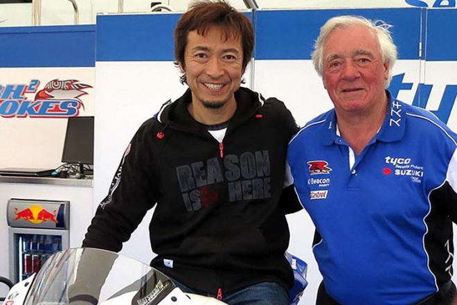 Tyco Suzuki na TT s Japoncem Matsushitou