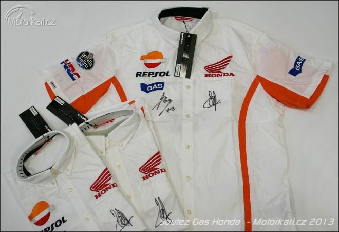 Soutìžte o tøi košile Gas Honda s podpisy Marca a Daniho