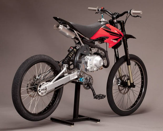 Motoped – downhill bike s pitbike motorem