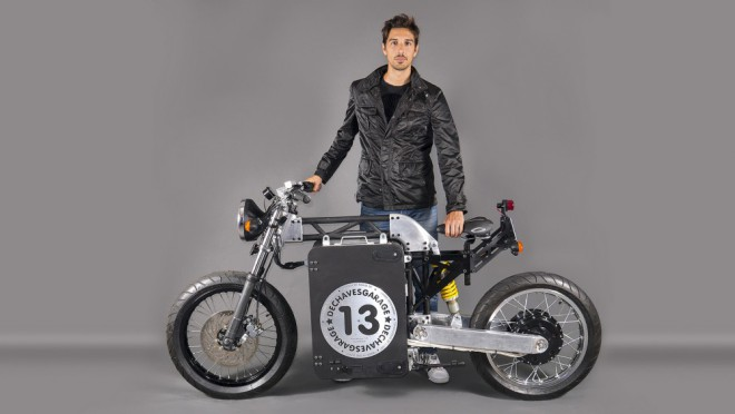 Elektrická motorka od Dechaves Garage