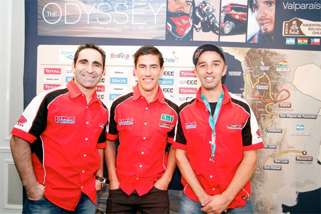 Prezentace Dakaru 2014 s jezdci Hondy