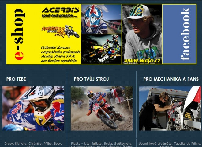 Nový e-shop Mefo Sport Centrum Jinín