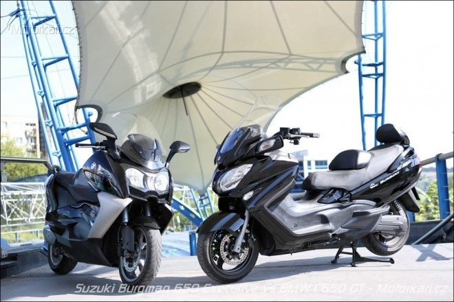 Suzuki Burgman 650 Executive vs BMW C650 GT