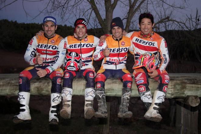 Tovární jezdci Hondy MotoGP vyzkoušeli trial