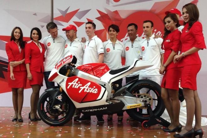 Caterham Moto Racing v roce 2014 s AirAsia