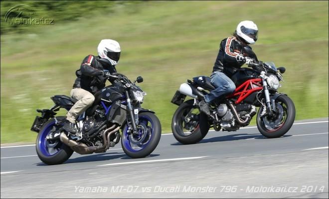 Dvouhrnky: Ducati Monster 796 vs Yamaha MT-07