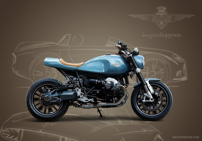 BMW R NineT ve stylu MINI Superleggera