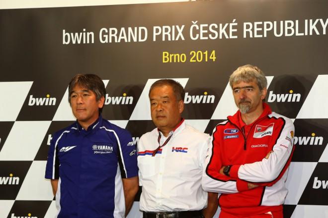 Tisková konference zástupcù Ducati, Hondy a Yamahy
