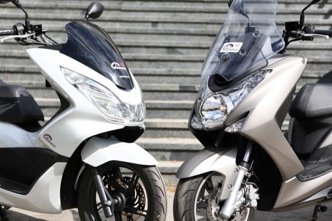 Yamaha Majesty S & Honda PCX
