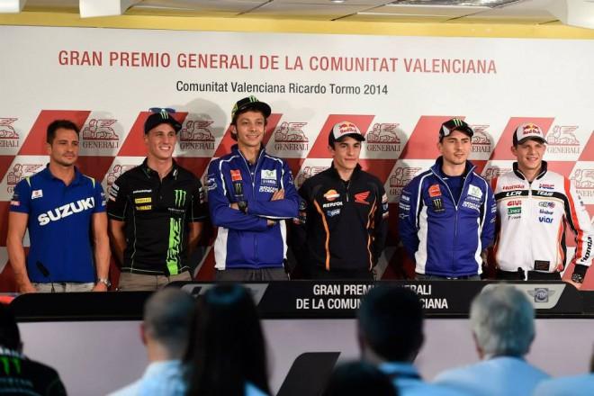 Tisková konference zahájila závodní víkend ve Valencii