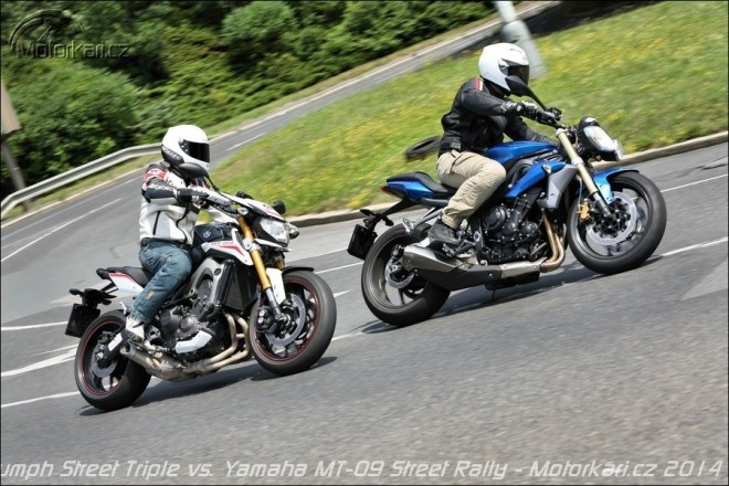 Duel tøíhrnkù: Triumph Street Triple vs. Yamaha MT-09 Street Rally