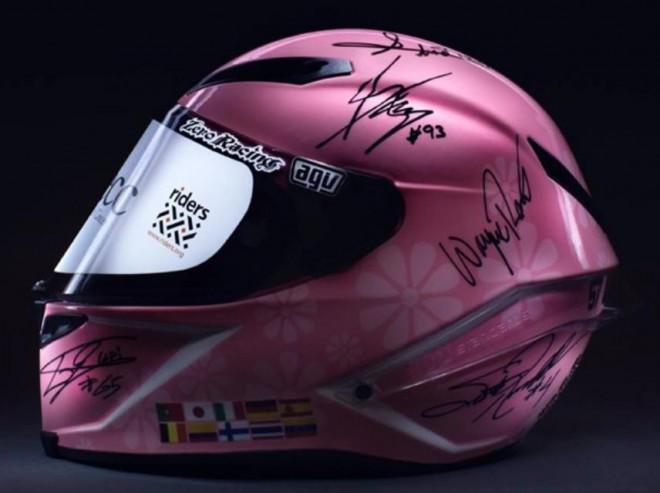 Helma podepsaná legendami MotoGP vydìlala 7 milionù na charitu