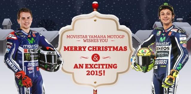 Vánoèní video s pøáním od týmu Movistar Yamaha MotoGP