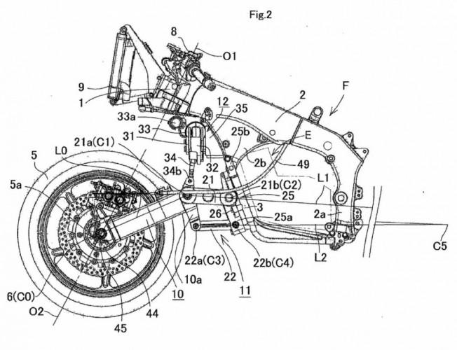 Kawasaki má patent na nové zavìšení pøedního kola