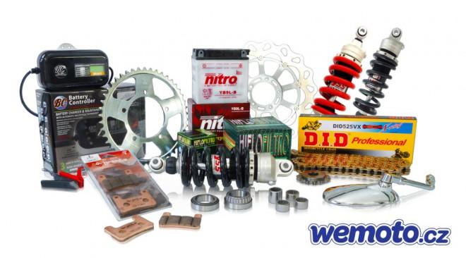 Wemoto.cz – široký sortiment dílù na motorky, skútry a ATV