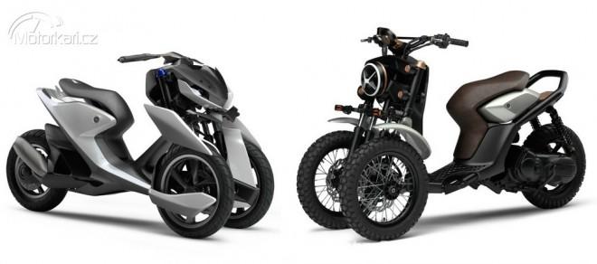 Yamaha pøedstavila nové tøíkolové koncepty