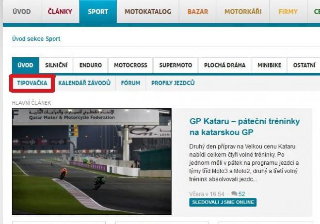 Spuštìna tipovací soutìž MotoGP 2015