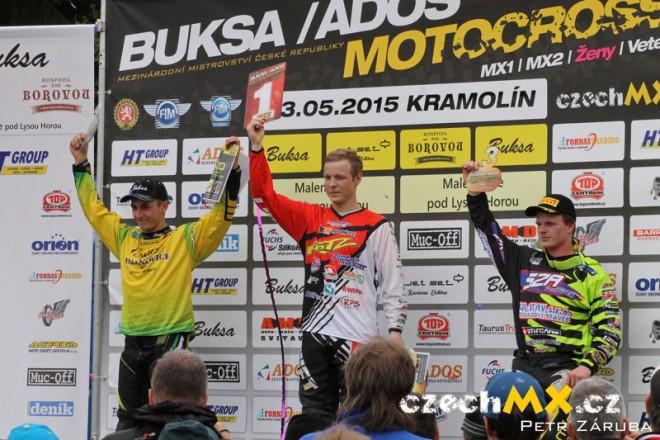 O první body motokrosové sezony jezdci bojovali v Kramolínì