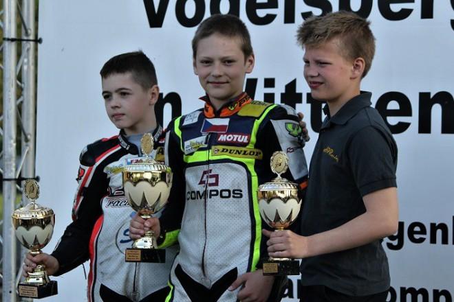 Ondøej Vostatek vyhrál další závody ADAC Mini Bike Cupu