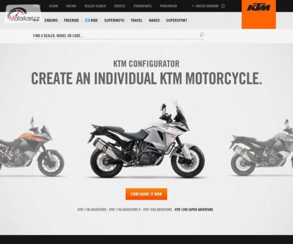 KTM pøedstavilo nový web s konfigurátorem