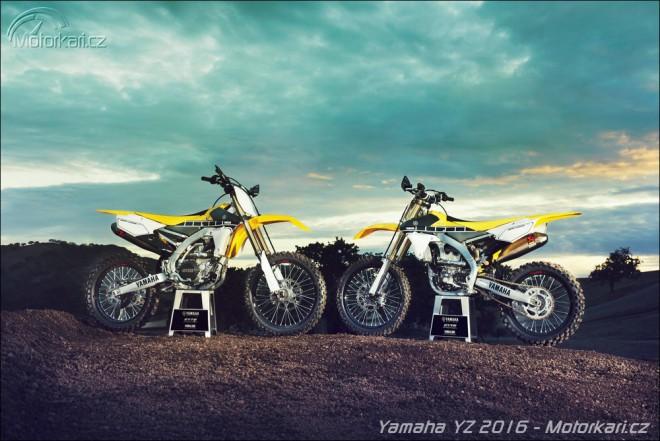 Motokrosy Yamaha 2016 ve výroèních barvách