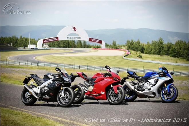 Souboj superbikù na okruhu: RSV4 RR vs Panigale 1299 vs YZF-R1