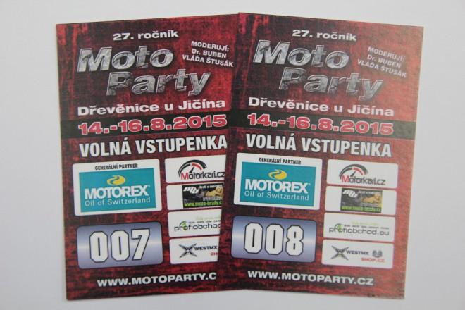 Vyhrajte vstupenky na Moto Party