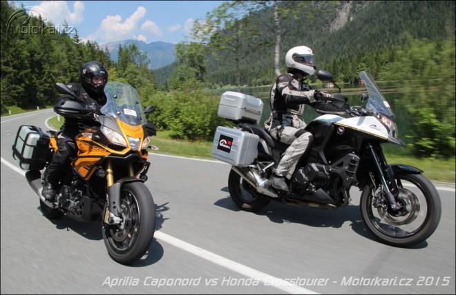 Alpský test: Aprilia Caponord 1200 Rally vs Honda Crosstourer