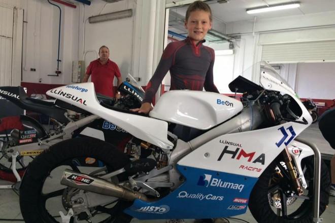 Ondøej Vostatek poprvé testoval Pre Moto3 a Moto4