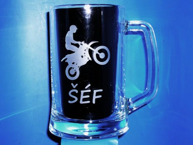 Soutìž o sklenice s motorkáøským motivem