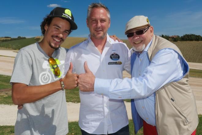 Marc VDS v roce 2016 s M�rquezem a Morbidellim
