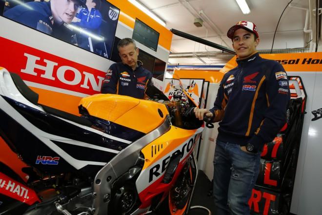 První den testu ve Valencii zajel nejrychleji Márquez
