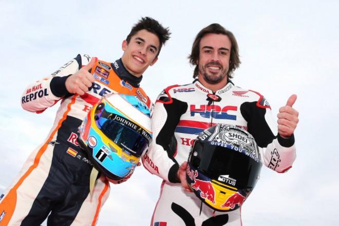 Alonso vyzkoušel RC213V, Márquez s Pedrosou NSR500