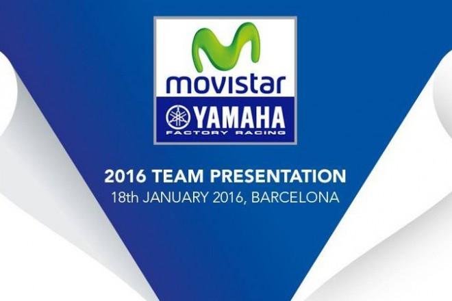 V pondìlí je týmová prezentace Movistar Yamaha MotoGP