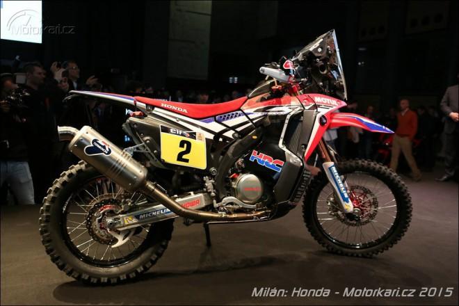 Honda patrnì chystá sériovou CRF450 Rally