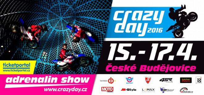 Crazy Day pøiveze do Budìjovic Adrenaline Show
