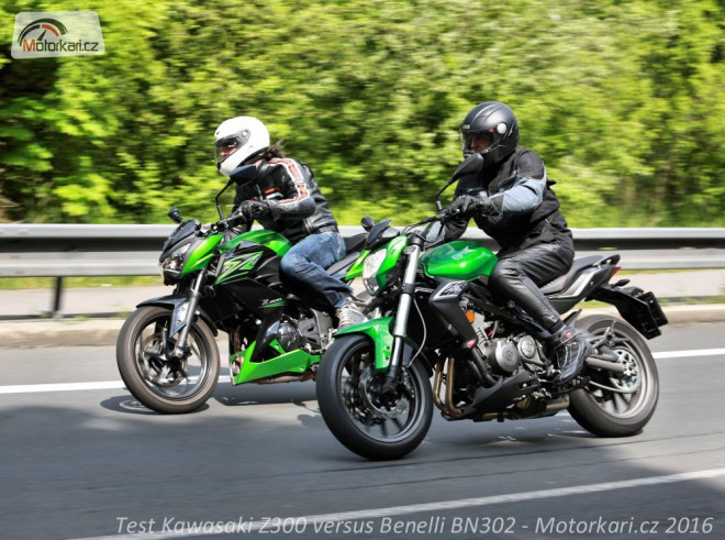 Kawasaki Z300 versus Benelli BN302