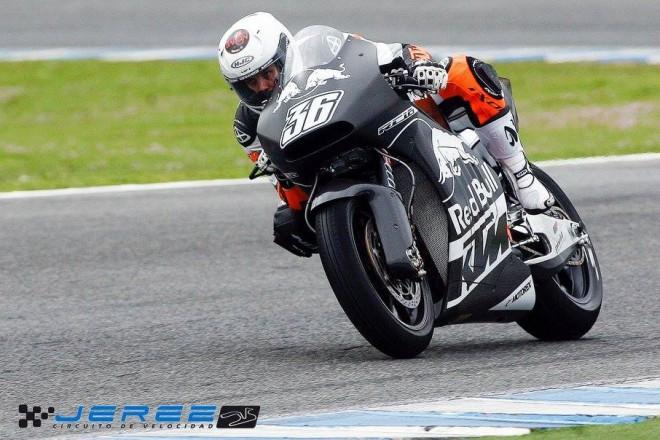 Po�as� v Jerezu zastavilo t�my Moto2, testovala jen KTM MotoGP