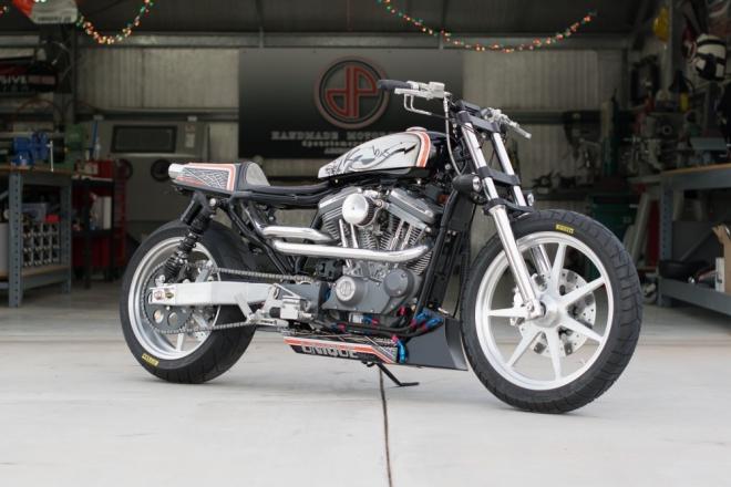 Harley Davidson Sportster jako Street Tracker od DP Customs