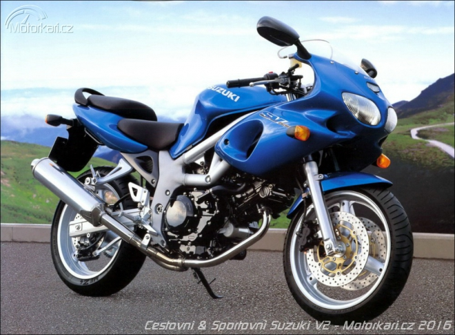 Cestovn� a sportovn� motocykly Suzuki s motory V2: 1990 - 2016